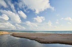Beautiful beach and waves of Sea Stock Photos