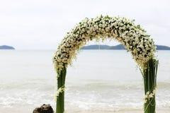 Beautiful beach wedding set-up. Royalty Free Stock Photography