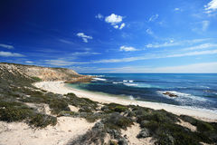 Beautiful Beach White Sand. Unspoiled Coastline - Coffin Bay National Park, South Australia Stock Photos