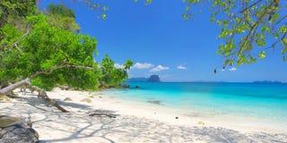 Beautiful beach with white sand Stock Photos