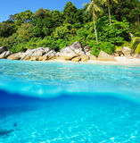 Beautiful beach with white sand bottom Stock Photography