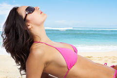 Beautiful beach woman Royalty Free Stock Images