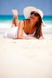 Beautiful beach woman Stock Image