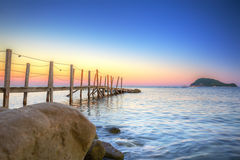 Beautiful beach of Zakhynthos island at sunset Royalty Free Stock Photo