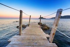 Beautiful beach of Zakhynthos island at sunset Royalty Free Stock Photos