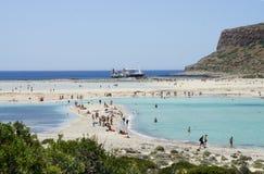 Beautiful beaches of Gramvousa Stock Photos