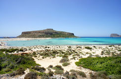 Beautiful beaches of Gramvousa Stock Images