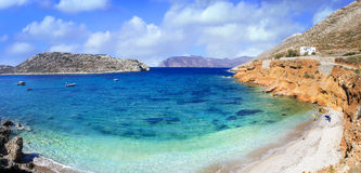 Beautiful beaches of Greece , Amorgos Stock Images