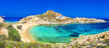 Beautiful beaches of Greece stock image