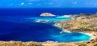 Beautiful beaches of Greek islands Royalty Free Stock Image