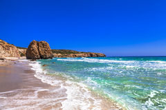 Beautiful beaches of Greek islands- Milos, Cyclades Royalty Free Stock Photo
