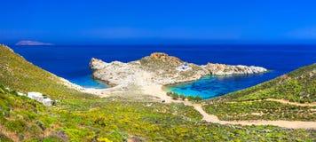 Beautiful beaches of Greek islands. Serifos, Agios Sostis stock photography