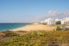 Beautiful beaches in Quarteira, Algarve, Portugal Stock Photo