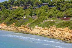 Beaches of Salou, Spain. Beautiful beaches of Salou, Catalunya, Spain stock photos