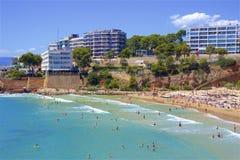 Beaches of Salou, Spain. Beautiful beaches of Salou, Catalunya, Spain royalty free stock images
