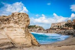 The beautiful beachside of Tropea stock photo
