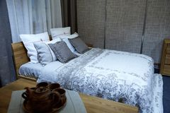 Beautiful bed Royalty Free Stock Images