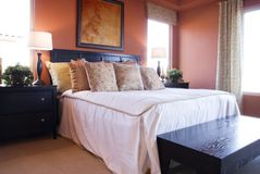 Beautiful Bedroom. In model home Royalty Free Stock Images