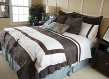 Beautiful Bedroom Detail Stock Image