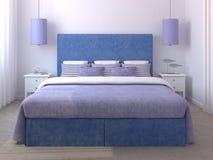Beautiful bedroom interior. 3d render Stock Photos