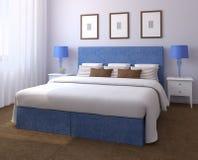 Beautiful bedroom interior. 3d render Royalty Free Stock Photo