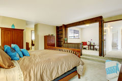 Beautiful bedroom interior with sitting area Stock Image