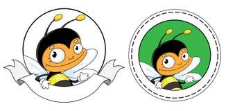 Beautiful bee banner Royalty Free Stock Photos