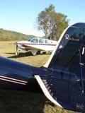 Beautiful Beechcraft Bonanza in the morning light. Royalty Free Stock Photos