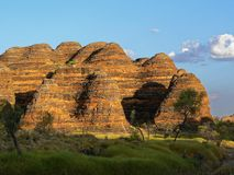 The Beautiful Beehive Rocks Of The Bungle Bungles At Sunset stock photography