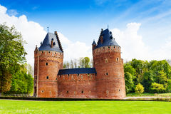 Beautiful Beersel Castle in Brussels, Belgium royalty free stock photography