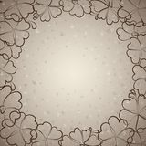 Beautiful beige floral background Royalty Free Stock Photo