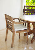 Beautiful beige wooden furniture Stock Photo