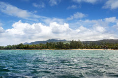 Beautiful Bel Ombre coastline in Mauritius Royalty Free Stock Images
