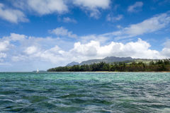 Beautiful Bel Ombre coastline in Mauritius Stock Photography