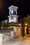 Beautiful  belfry  in the old town of Plovdiv -night scene Royalty Free Stock Photos