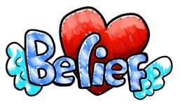 Beautiful Belief Logo. Digital illustration of a beautiful logo of te word Belief vector illustration