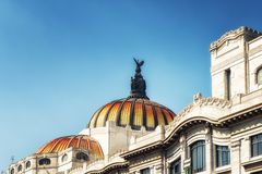 Palacio de Bellas Artes in Mexico City. Beautiful Bellas Artes` Palace in Mexico City Stock Image