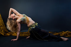 Beautiful belly dance Royalty Free Stock Images