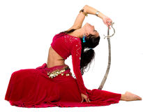 Beautiful belly dancer Royalty Free Stock Images