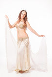 Beautiful belly dancer  holding veil Stock Images