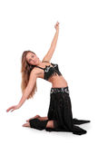 Beautiful belly dancer with long blond hair Stock Photography