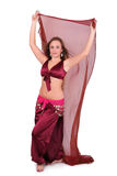 Beautiful belly dancer with long blond hair Stock Photos