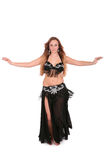 Beautiful belly dancer with long blond hair Royalty Free Stock Photos