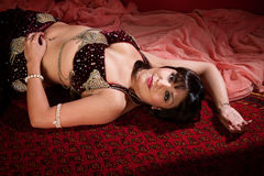 Beautiful Belly Dancer Lying Down Stock Photos