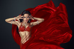 Beautiful belly dancer Royalty Free Stock Image