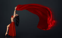 Beautiful belly dancer Stock Photography