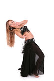 Beautiful belly dancer performing Stock Photo