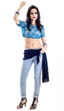Beautiful belly dancer Royalty Free Stock Photography