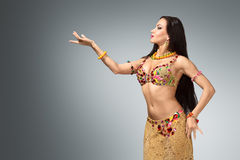 Beautiful belly dancer woman Stock Image