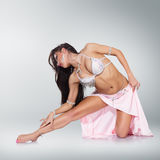 Beautiful belly dancer woman Royalty Free Stock Photo